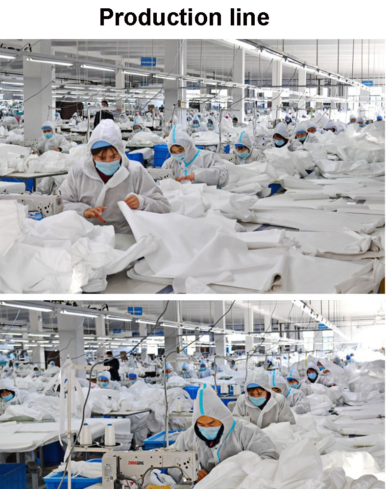 Medical Protective Clothing Epidemic Prevention Disposable Isolation Protection Medical Anti-Static Protective Garment